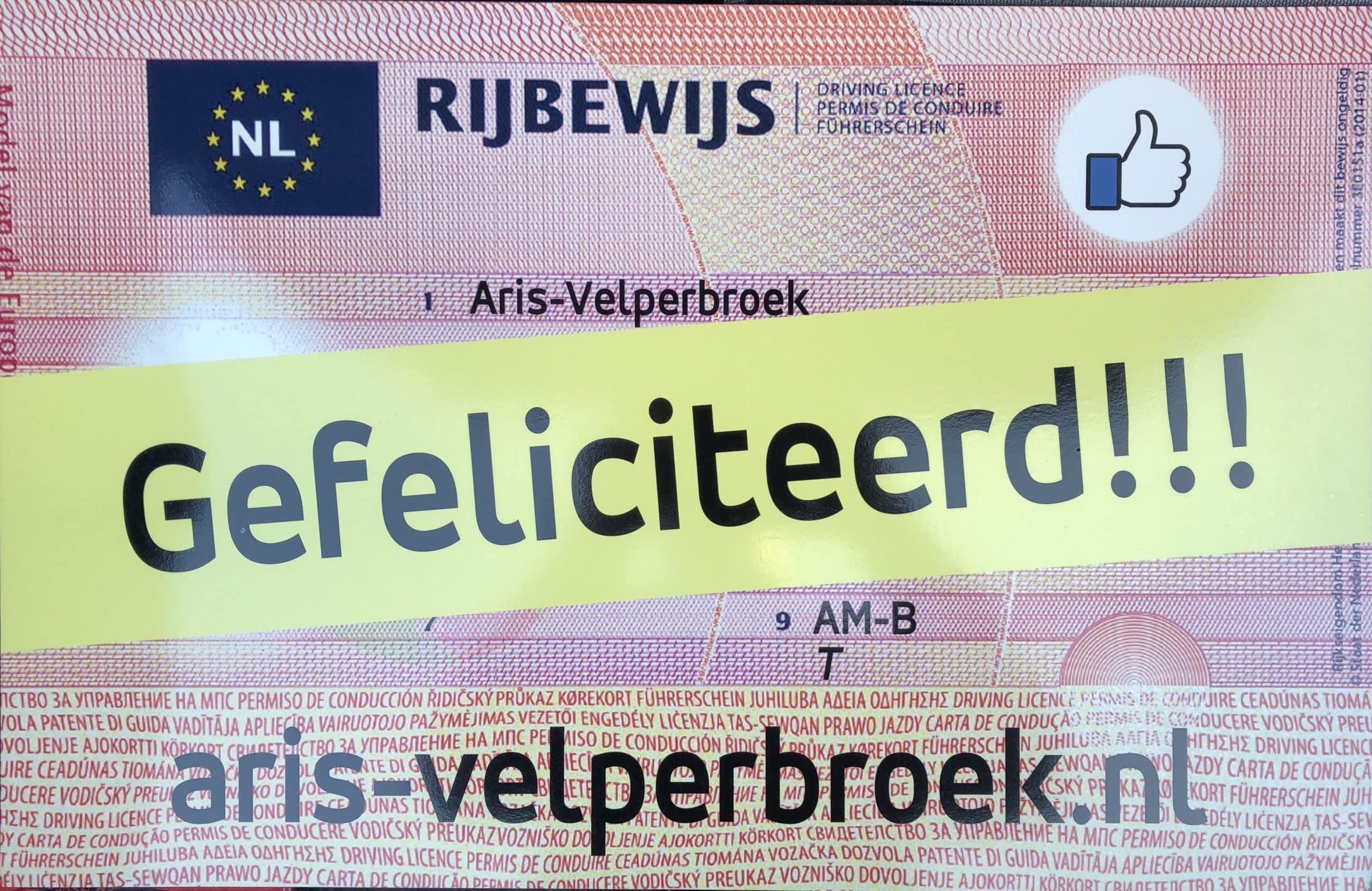 Rijbewijs Aris-Velperbroek