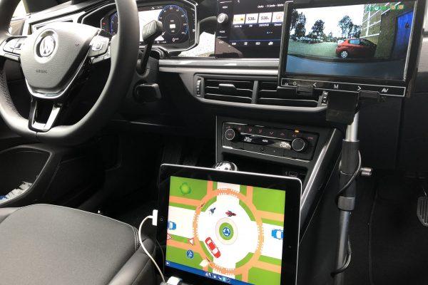 Digitale voorbeelden van verkeer situaties