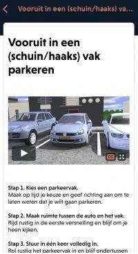 Lesvoorbereiding Animatie achterwaarts vak parkeren